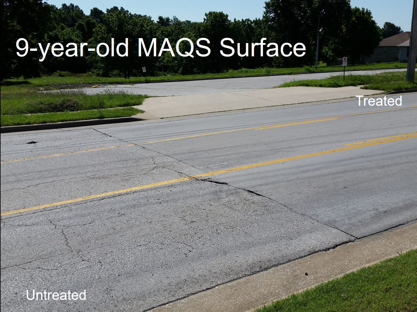 Comparing a 16 year-old asphalt surface with a 9 year-old MAQS surface